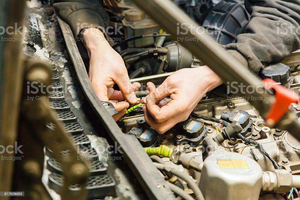 Car repairs stock photo
