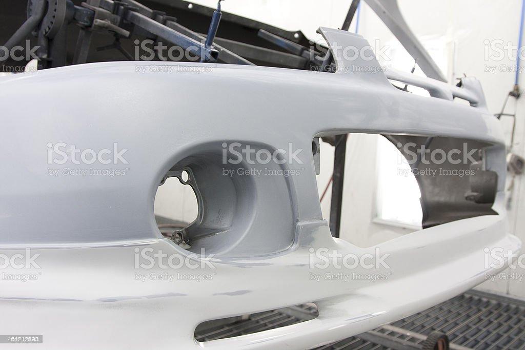 Car respray example stock photo