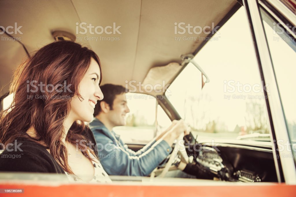 Car Ride Couple royalty-free stock photo