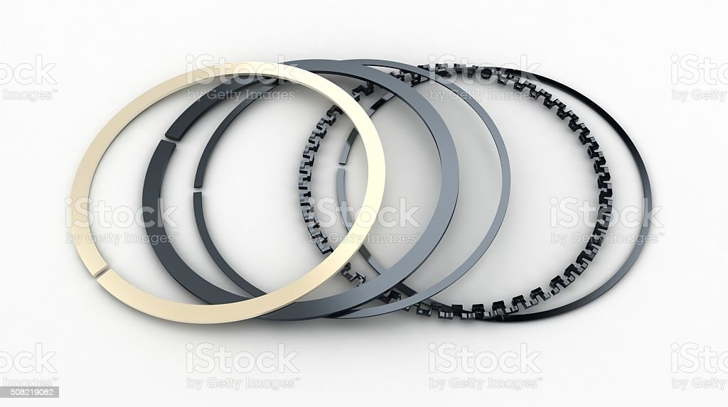 Car rings on white background stock photo