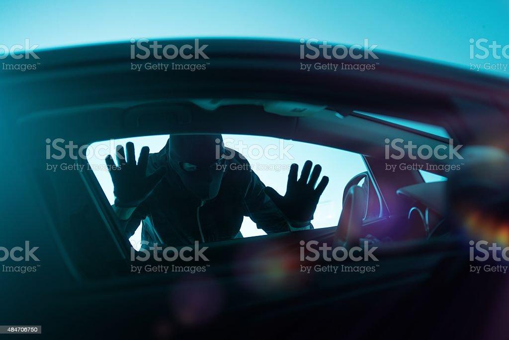 Car Robbery Concept stock photo