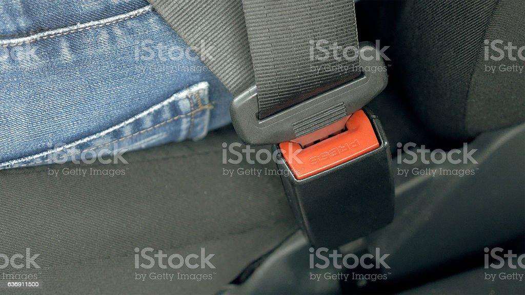 Car safety seat belt stock photo