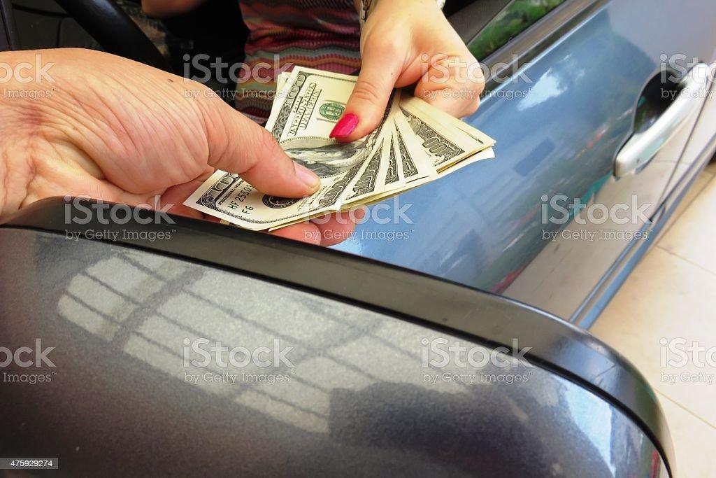 Car sale stock photo