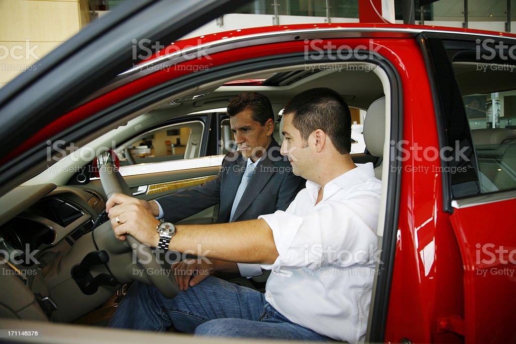 Car Sales Process royalty-free stock photo
