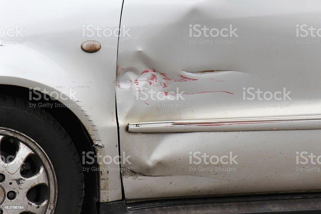 Car scratch stock photo