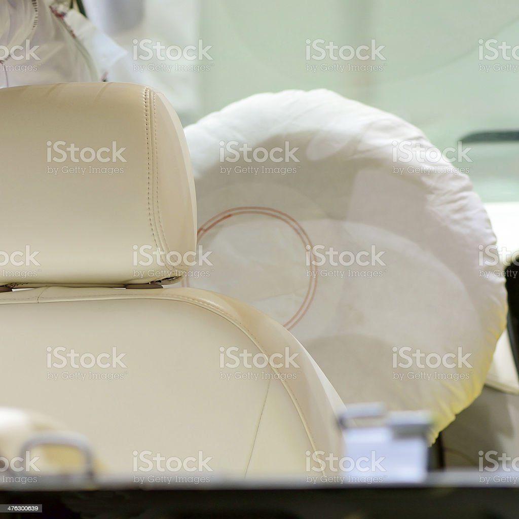 Car seat and airbag royalty-free stock photo