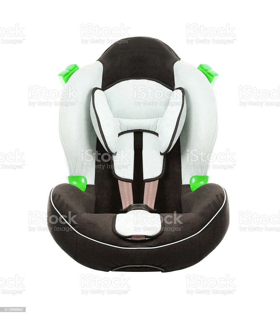 car seat for children stock photo