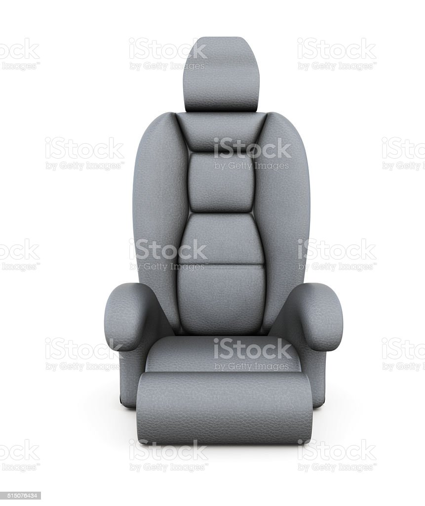 Car seat isolated on white background. 3d rendering stock photo
