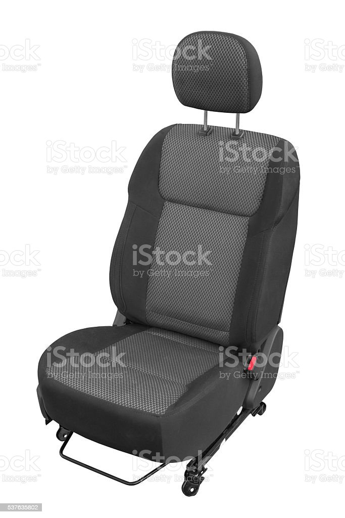 car seat on a white background stock photo