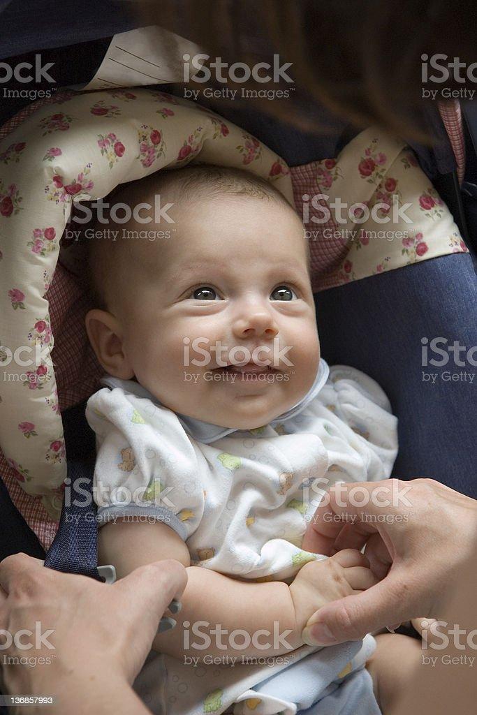 Car Seat Smile stock photo