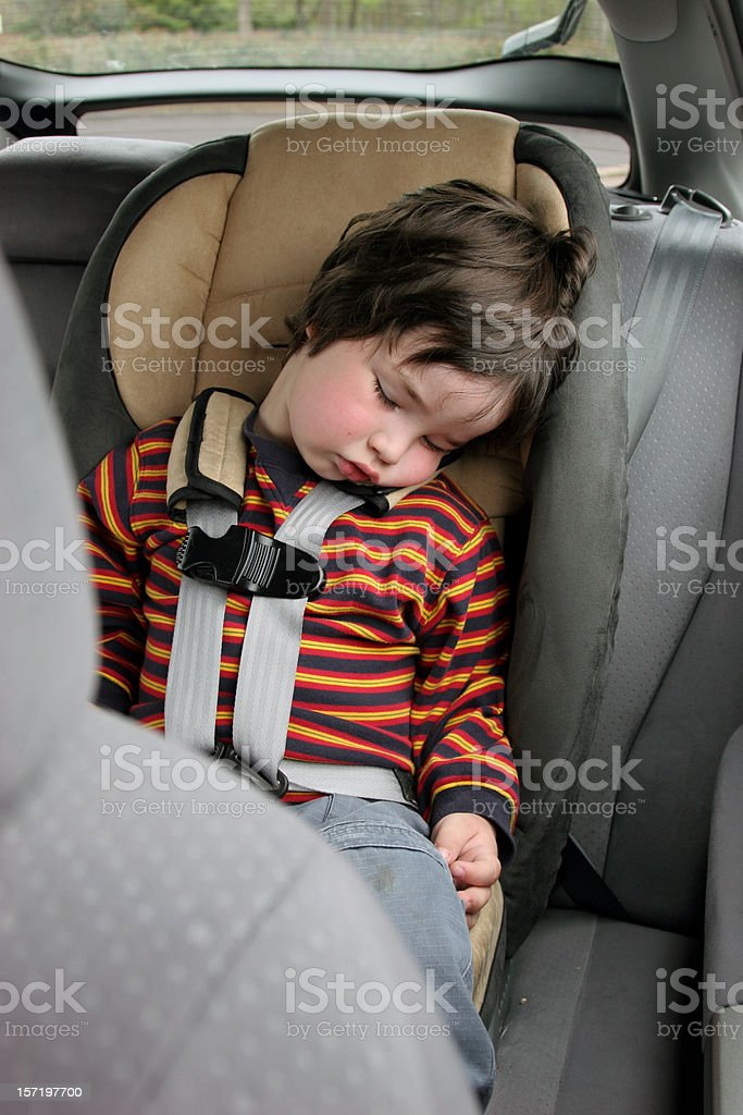 Car Seat Snooze royalty-free stock photo