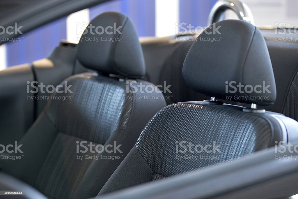 car seats from a open modern cabrio stock photo
