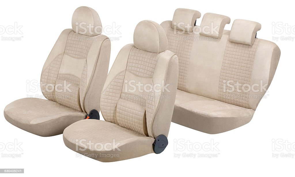 car seats stock photo