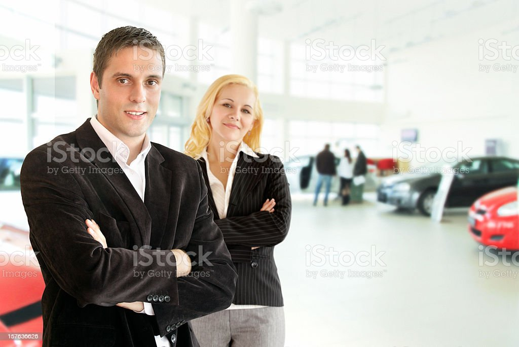 Car sellers. royalty-free stock photo