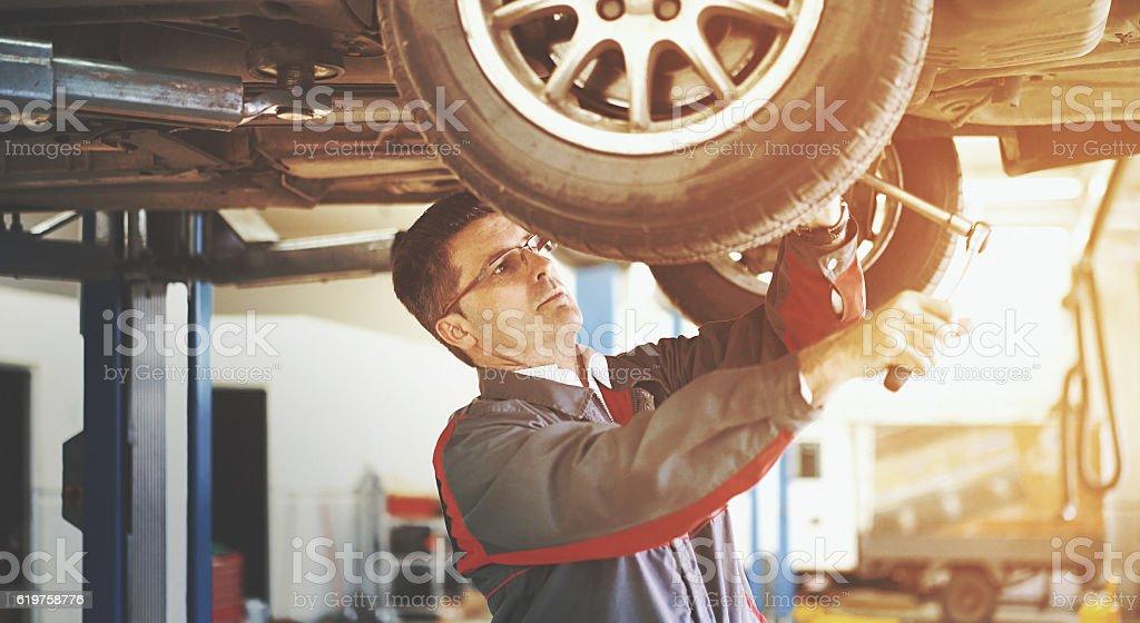 Car service. stock photo