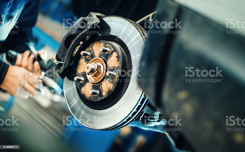 Car service procedure. stock photo
