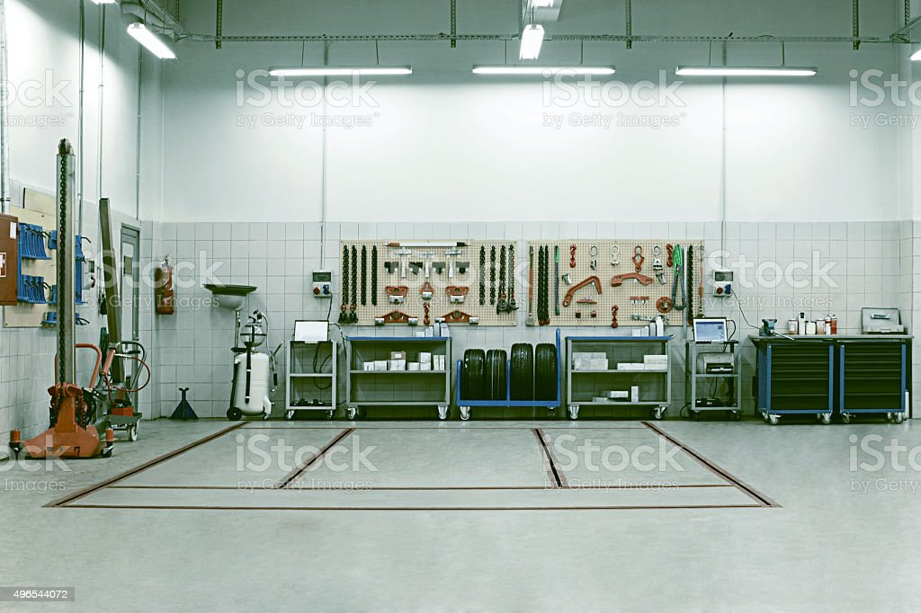 car service repair shop interior stock photo