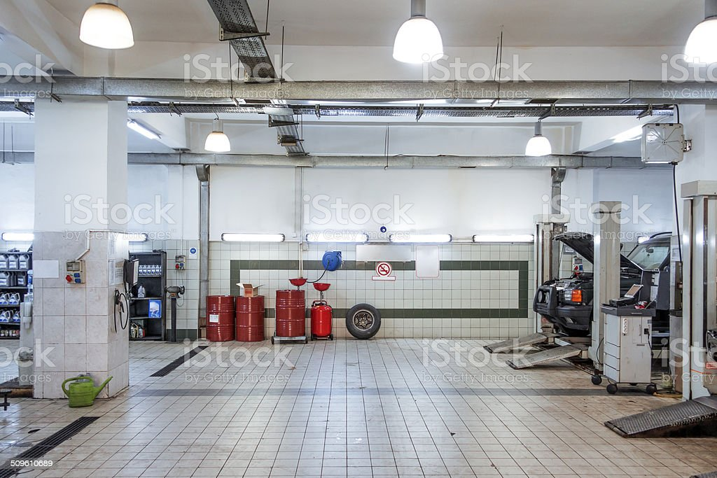 car service repair shop stock photo
