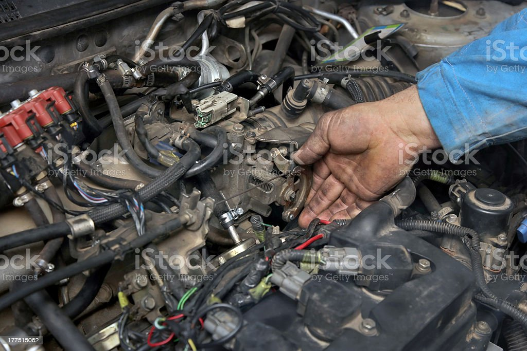 Car servicing royalty-free stock photo