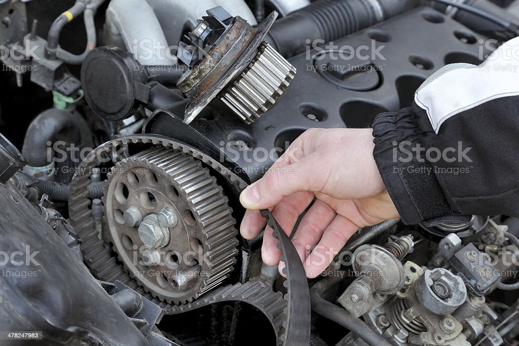 Car servicing stock photo