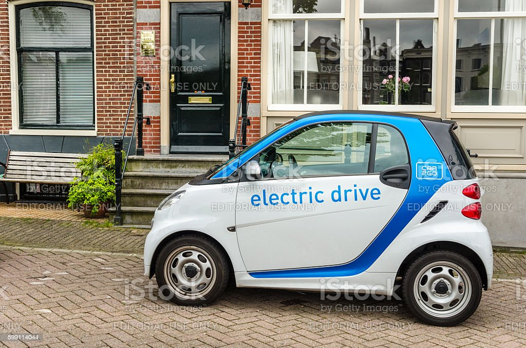 Car Sharing Electrical Vehicle stock photo