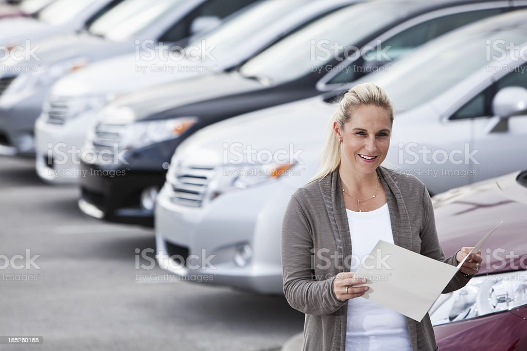 Car shopper royalty-free stock photo