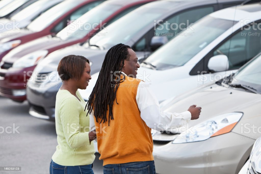 Car shoppers royalty-free stock photo