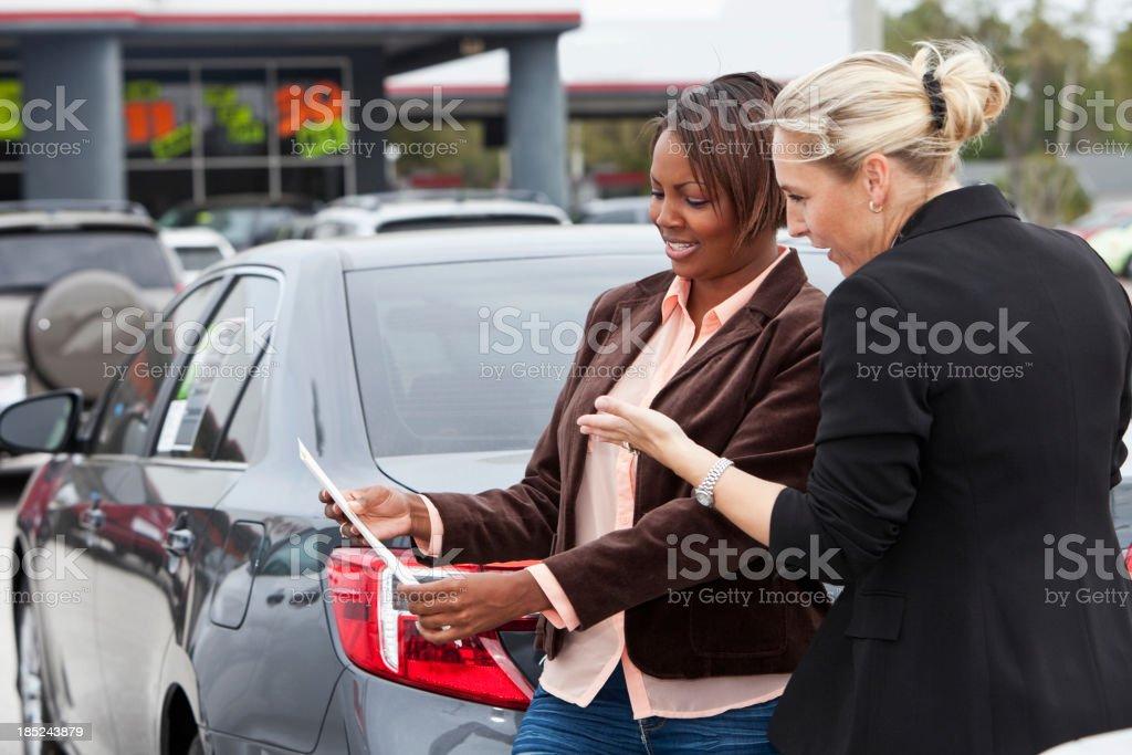 Car shopping royalty-free stock photo