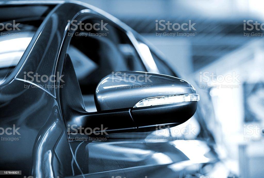 car side mirror stock photo