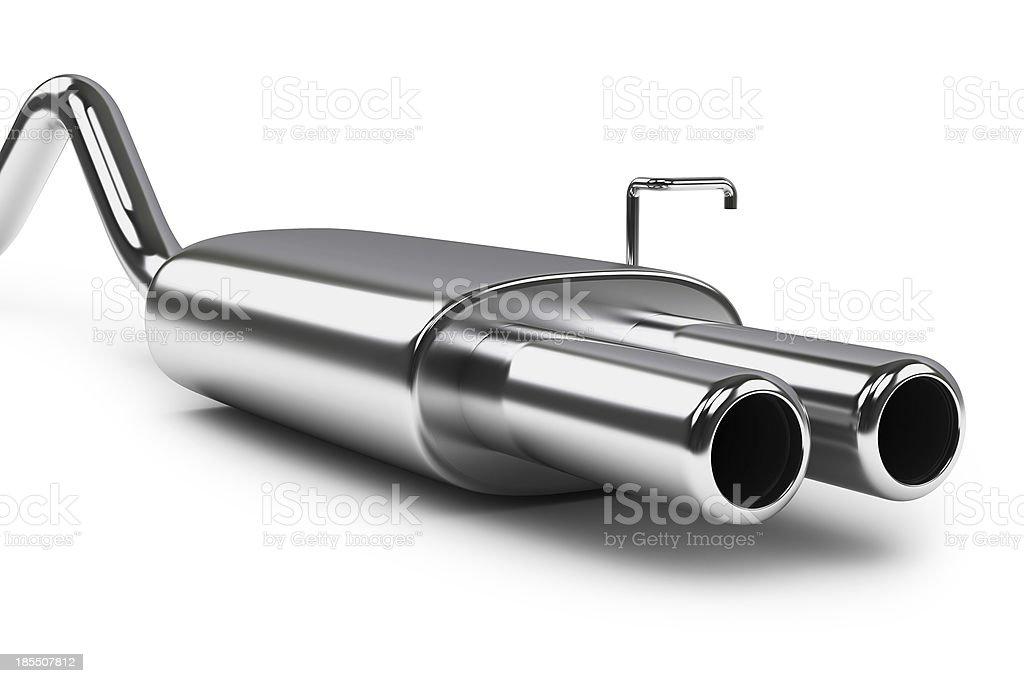 Car silencer stock photo