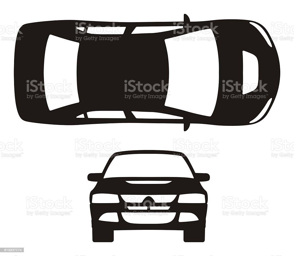 Car silhouette stock photo