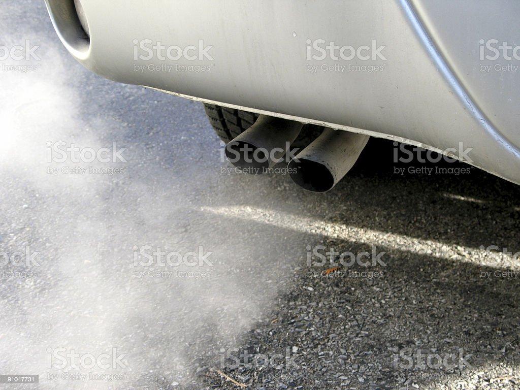 Car smoke stock photo