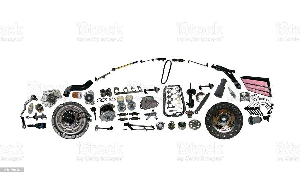 car spear parts stock photo