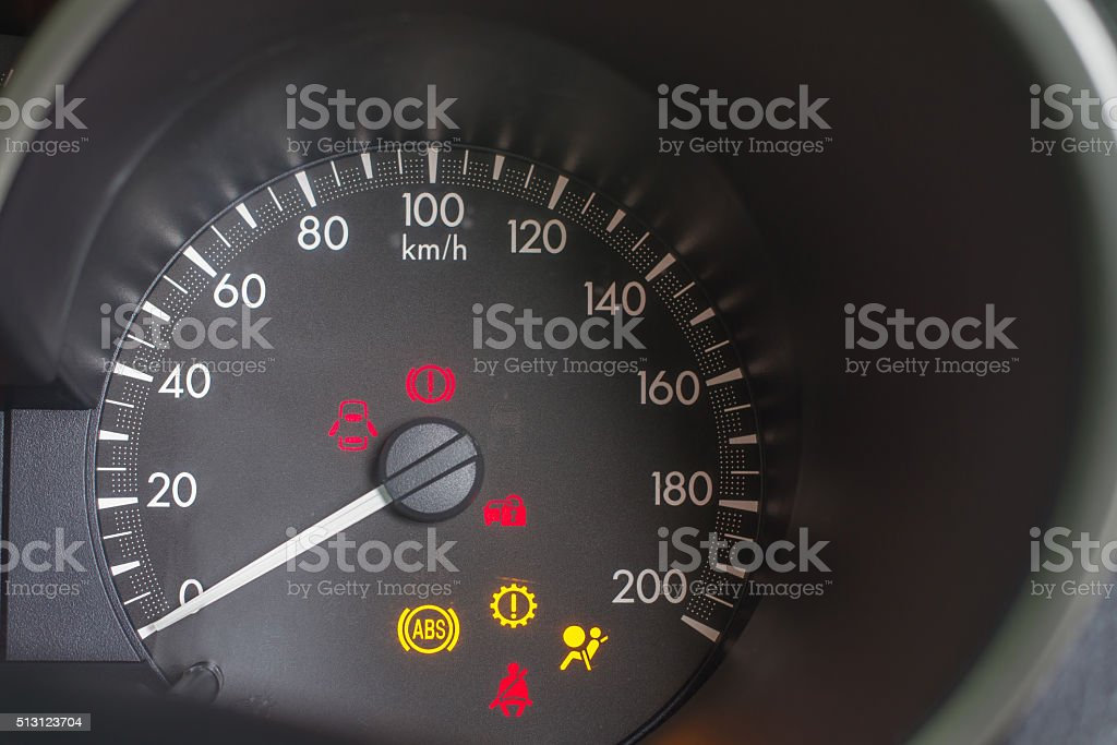 Car Speed Dashboard stock photo