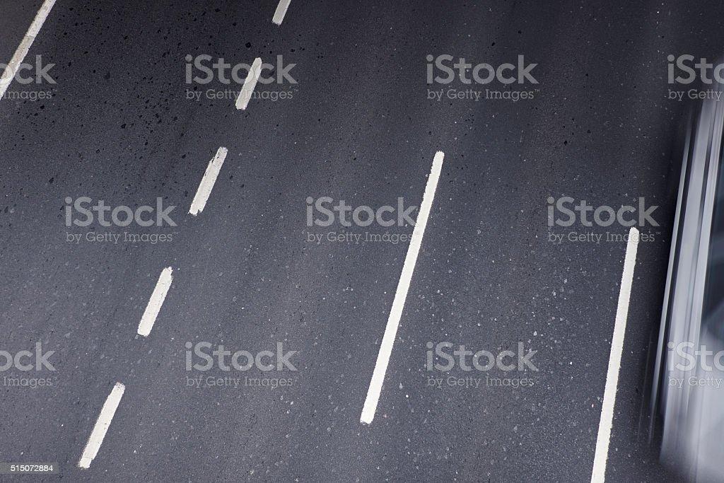 Car Speeding, Country Road Through Summer stock photo