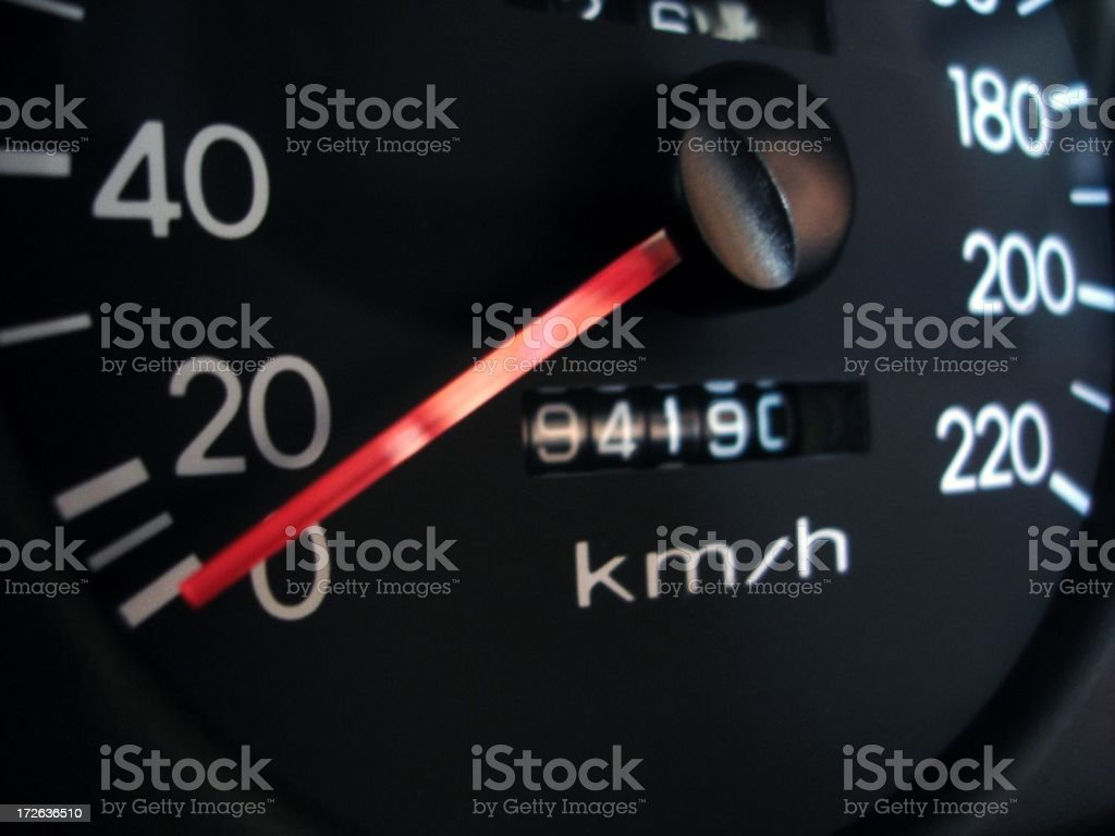 Car Speedo royalty-free stock photo