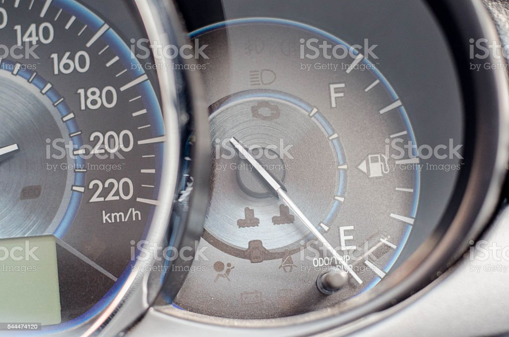 Car Speedometer and Gauge Oil stock photo