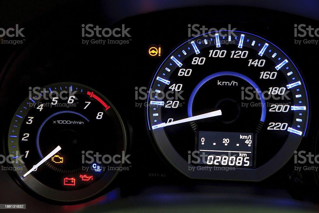 car speedometer royalty-free stock photo