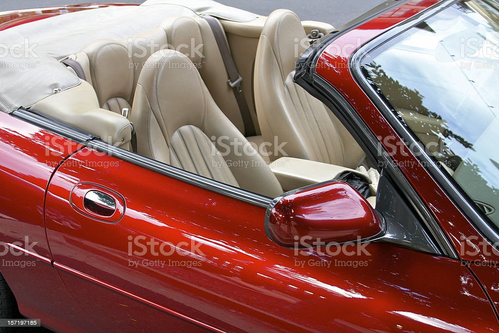 Car Sporty Red Color royalty-free stock photo