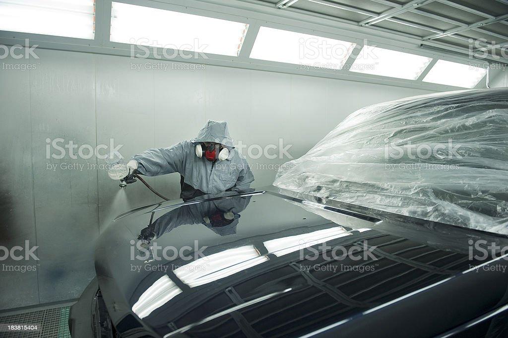 Car Spray Painting stock photo