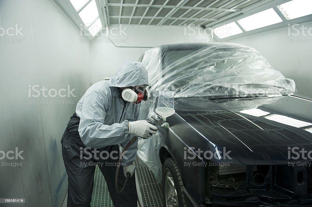 Car Spray Painting Service stock photo