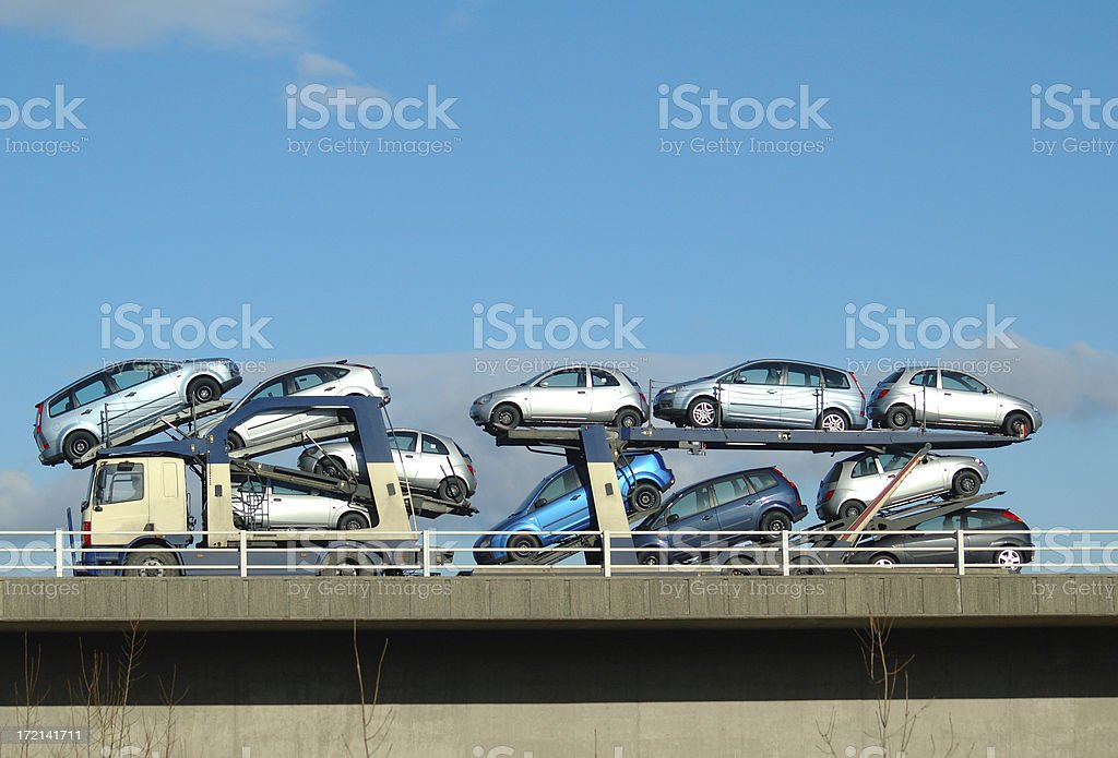 car stack stock photo