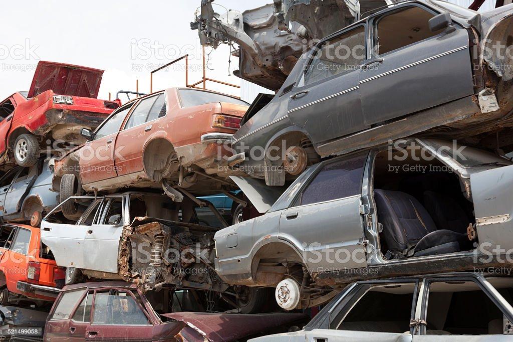car stack stock photo