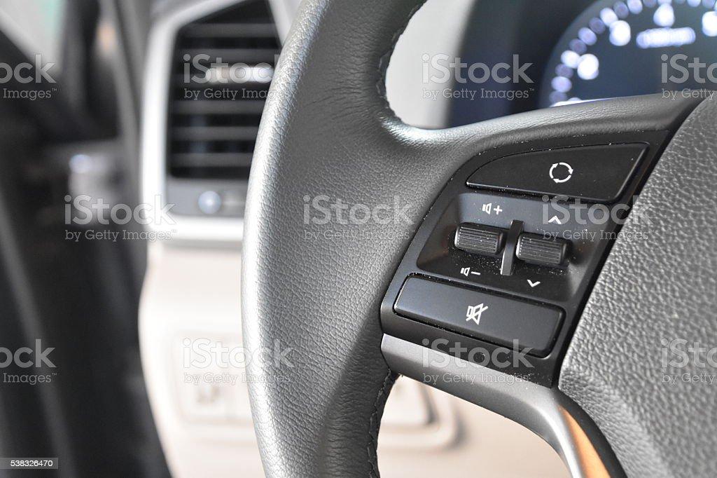 Car Steering wheel Control stock photo