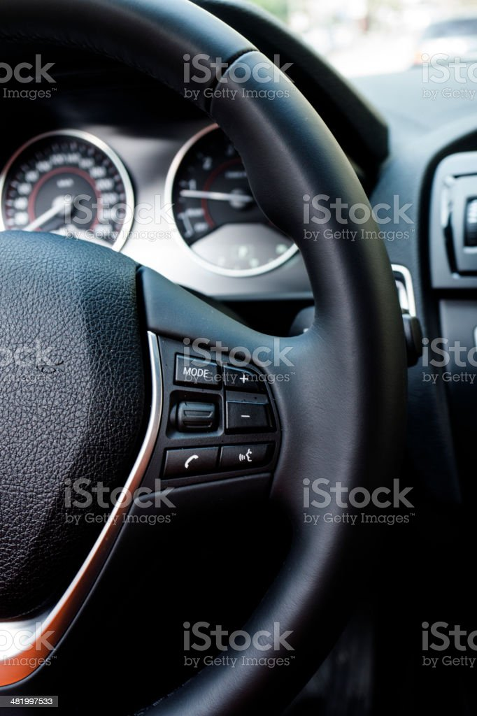 Car Steering wheel stock photo