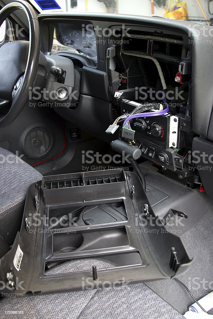 Car Stereo Theft stock photo