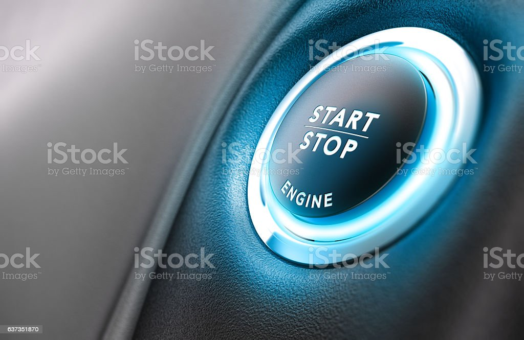 Car Stop Start System stock photo