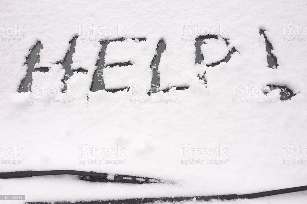 Car Stranded in the Snow royalty-free stock photo