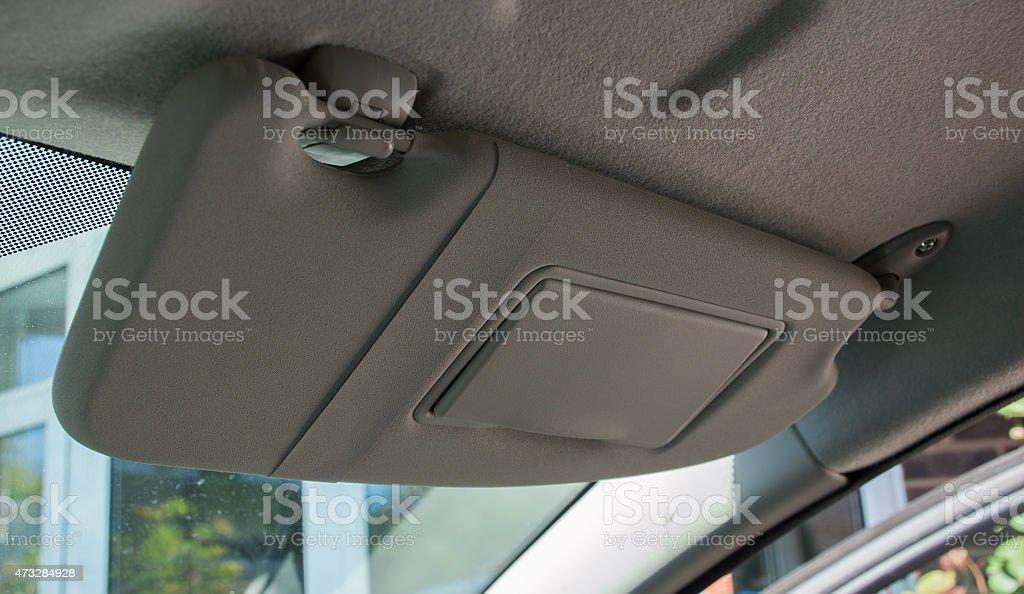 Car Sun Visor stock photo