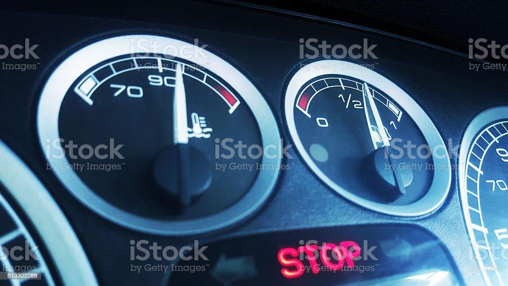 Car Temperature stock photo